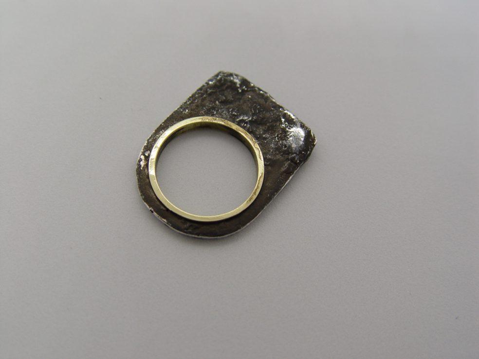 Plata 950 oxidada y Bronce